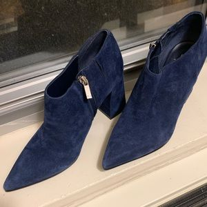 Marc Fisher Navy Suede Boots/Booties